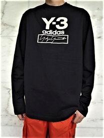 """adidas STYLE Y-3(ワイ−スリー)【Y-3 STACKED LOGO LS TEE】""""Y-3&YOHJI YAMAMOTO""""ロゴプリント&刺繍ロングスリーブ Tee★BLACK★"""