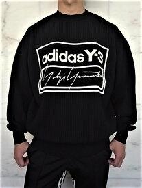 "adidas STYLE Y-3(ワイ−スリー)【Y-3 TECH KNIT CREW SWEATSHIRT】""Y-3&YOHJI YAMAMOTO""ロゴオーバーサイジングクルーネックウールニット★"
