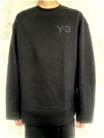 """adidas Y-3(ワイ−スリー)【Y-3 M CLASSIC CHEST LOGO SWEATSHIRT】""""Y-3""""クルーネックスウェット★BLACK★"""