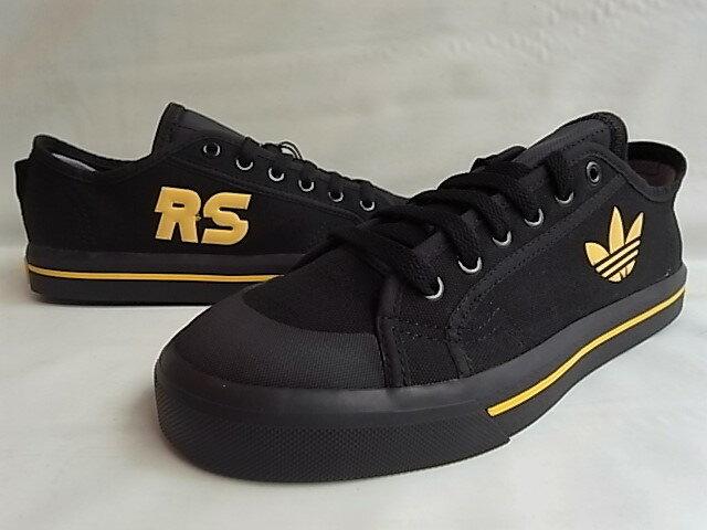 "adidas by RAF SIMONS(アディダス バイ ラフ シモンズ)""LIMITED EDITION""【RAF SIMONS SPIRIT LOW】ローカットキャンバススニーカー★CORE BLACK/CORE BLACK/CORN YELLOW★"