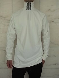 "adidas STYLE Y-3(ワイ−スリー)【3-STRIPES HIGH NECK L/S TEE】""CLIMALITE""3ストライプスハイネックロングスリーブTee☆CORE WHITE/BLACK★"