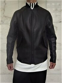 "adidas STYLE Y-3(ワイ−スリー)【M Y-3 BONDED LEATHER JACKET】""Y-3""LAMB Y-3 BONDED LEATHER BONDED JACKETラムレザーボンバージャケット★"