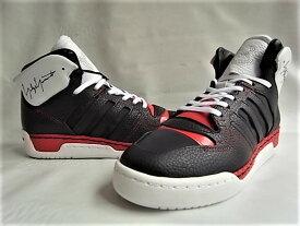 """adidas STYLE Y-3(ワイ−スリー)【Y-3 HAYWORTH】""""ATTITUDE""""モチーフハイカットスニーカー★BLACK Y-3/FTW BLACK/RED★"""
