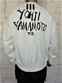 """adidas STYLE Y-3(ワイ−スリー)【Y-3 M SIGNATURE GRAPHIC CREW SWEATER】""""YOHJI YAMAMOTO""""シグネイチャープリントクルーネック""""LOOSE FIT""""スウェット☆CORE WHITE☆"""