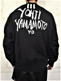 """adidas STYLE Y-3(ワイ−スリー)【Y-3 M SIGNATURE GRAPHIC CREW SWEATER】""""YOHJI YAMAMOTO""""シグネイチャープリントクルーネック""""LOOSE FIT""""スウェット★BLACK★"""