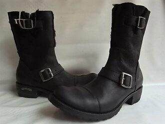 "SENDRA BOOTS(瑞爾銅鑼長筒靴)2Fantastic""EXCLUSIVE(完全的注釋)""""內部ZIP""羊皮MIX技術員長筒靴★SPRINTER NEGRO★"