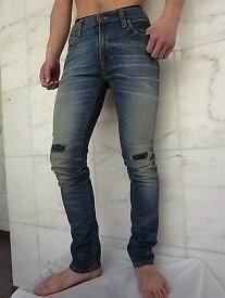"Nudie Jeans(ヌーディー ジーンズ)【THIN FINN】""LOW YOKE THIN SKINNY LEGS""""MARTIN REPLICA 3""ストレッチ混スリムスキニーJeans★"