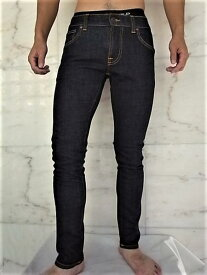 "Nudie Jeans(ヌーディー ジーンズ)【TIGHT TERRY】""SUPER TIGHT ANTI FIT TILTED WAIST""""RINSE TWILL""ストレッチ混スリムスキニーJeans★"