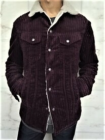 """Nudie Jeans(ヌーディー ジーンズ)【LENNY】""""WIDE CORD PLUM""""★""""裏ボア""""コーデュロイ G-Jacket★"""
