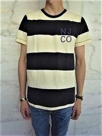"Nudie Jeans(ヌーディー ジーンズ)【ROY】BLOCK STRIPE NJCO TEE""オーガニックコットン""ショートスリーブボーダーTee★BLACK×WHITE☆"
