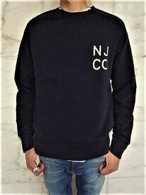 "Nudie Jeans(ヌーディー ジーンズ)【MELVIN】""オーガニックコットン""ラグランスリーブ""NJCO""スウェット★BLACK★"