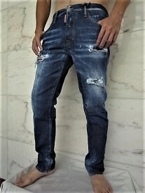 "DSQUARED2(ディースクエアード)【RUN DAN JEAN】""MEDIUM WORKED LIBERTY PATCHES WASH""""スカーフ付き""ランダンJeans★"