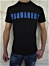 "DSQUARED2(ディースクエアード)【DSQUARED2】BLACK PRESSATO""COOL FIT""ショートスリーブTee★BLACK/BLUE★"