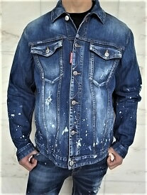"DSQUARED2(ディースクエアード)【OVER JEAN JACKET】""STRETCH DENIM SPLASHED CUFF WASH""""オーバーサイジング""DENIM JEAN JACKET★"