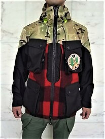 "GRIFFIN(グリフィン)【HUNTER BARESKIN PARKA】BLACK CORDURA+WOOLRICH WOOL+BRITISH CAMOUFLAGE""LAYER SYSTEM""フーデットハンタージャケット☆"
