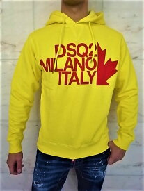"DSQUARED2(ディースクエアード)【DSQ2 MILAN ITALY】""COOL FIT""""BEST FADE DYED""HOODED SWEAT☆YELLOW★"