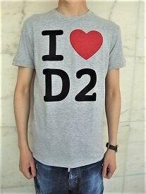 """DSQUARED2(ディースクエアード)【I HEART D2 T-SHIRT】""""CHIC DAN FIT""""""""I LOVE D2""""ショートスリーブティーシャツ☆GREY MELANGE★"""