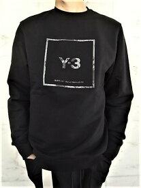 "adidas Y-3(ワイ−スリー)【Y-3 U SQUARE CREW SWEATSHIRT】""Y-3""スクエア""ロゴ""クルーネックスウェット★BLACK★"