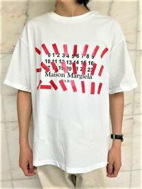 "Maison Margiela(メゾン マルジェラ)【Tape print oversized T-shirt】""co-education""テーププリントオーバーサイズティーシャツ☆WHITE☆"
