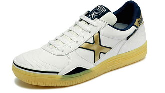 ♦ MUNICH GRESCA white / gold / Munich Futsal shoes