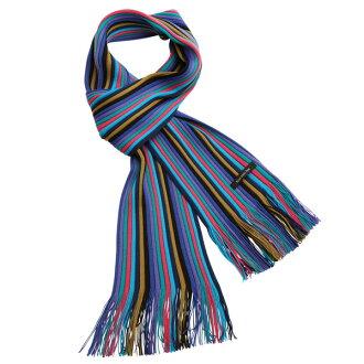 ♦ Matsui knit co., Ltd. Museum knit scarf-adult blue