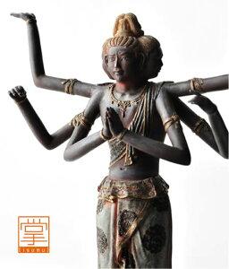 掌 阿修羅 ( あしゅら ) イSム ( イスム ) TanaCOCORO [掌] たなこころ 仏像 フィギュア イスム いすむ インテリア仏像 仏像ワールド 送料無料