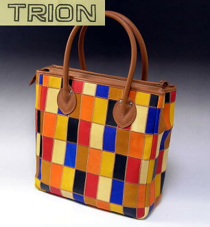 Tryon Grove leather Patchwork Tote P250/trion