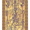 Buddhist painting floor hanging scroll Nichiren mandala (tea) (length:) 5 shakus)