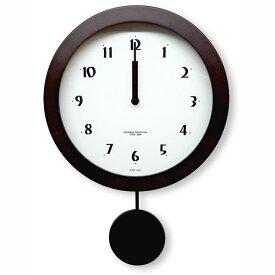 天然木 電波式 振り子時計 / ダークブラウン DBK-DNB501B 日本製/ 壁掛け インテリア 掛け時計
