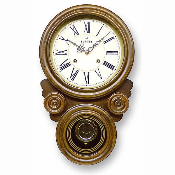 ボンボン式 振り子時計 だるま型 ローマ数字 687R-QL 日本製/ 壁掛け インテリア 掛け時計 ボンボン時計