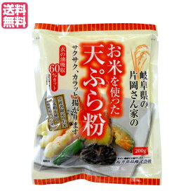 天ぷら粉 グルテンフリー 無添加 お米を使った天ぷら粉 200g 桜井食品 送料無料