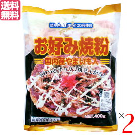 【ポイント6倍】最大33倍!お好み焼き お好み焼き粉 400g 2袋セット 桜井食品 国産 送料無料