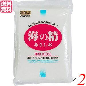 【ポイント5倍】最大31.5倍!塩 粗塩 あら塩 海の精 海の精 あらしお 500g 2袋セット 送料無料