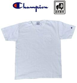 ビンテージ ヴィンテージ champion チャンピオン USA製アメリカ T1011 ポケット Tシャツ 白 無地