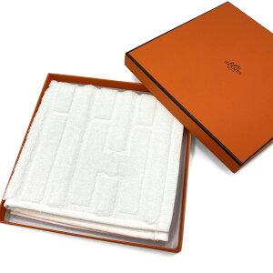 エルメス HERMES ハンドタオル カレタオル ラビリンス コットン100% ホワイト BLANC 白 32×32cm H101299M 16 新品 箱入り ユニセックス