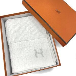 エルメス HERMES ゲストタオル フェイスタオル クォーツ ホワイト ブラン 34×85cm コットン100% H102274M 01 servietie invite quartz cotton peigne blanc white 白 刺?入り 新品