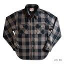 HV-00-50'sバッファローチェック-HV00-DELUXEWARE-デラックスウエアシャツ長袖-ヘビーネルシャツ-チェックシャツ【送…
