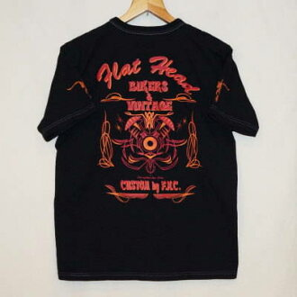 THC-11W-black - BIKERS &VINTAGE-THC 11W-FLATHEAD-flat head t-shirt