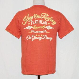 THC-144W-亮红-GROOVY BUNNY-THC144W-FLATHEAD-平地脑袋T恤