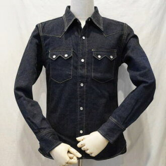 7002 W-50 s Western shirt-FLATHEAD-flat head denim shirt.