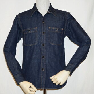 7013 w 牛仔布工作衬衫 7013-鲻鱼-平面头牛仔衬衫