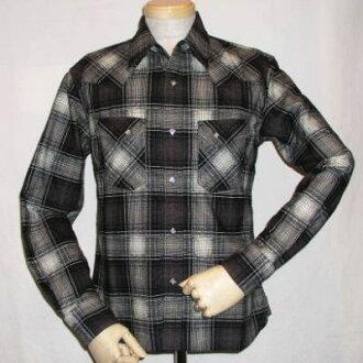 FNW-67W-khb0259 - flannel Western shirt 67-FNW 67W-FLATHEAD-flat head flannel shirt - BLACKMINT-black mind t-shirt
