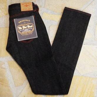 4001SP-ブラックニーフィットスリム-FLATHEAD-平地脑袋粗斜纹布牛仔裤平地脑袋牛仔裤