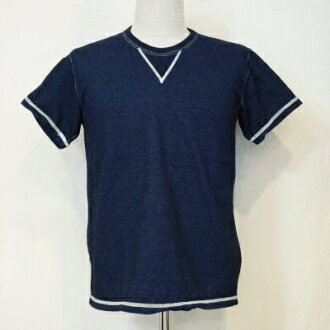 SJIT-103M-Indigo - サムライジーンズインディゴ V Gazette T shirt 103 M-SJIT 103M-SAMURAIJEANS-Samurai jeans V Gazette t-shirt
