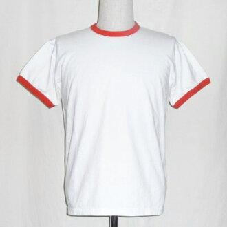 SJST17-RNM-白红-武士牛仔裤素色短袖ringa T恤-SJST17RNM-SAMURAIJEANS-武士牛仔裤T恤