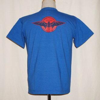 SFT17-101- blue - samurai airplane club short sleeves T-shirt 17-101-SFT17101-SAMURAIJEANS- samurai jeans T-shirt - samurai airplane club short sleeves T-shirt