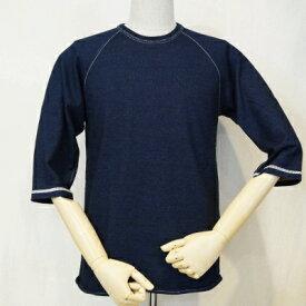 SJIT-104M-インディゴ-サムライジーンズインディゴ七分袖Tシャツ104M-SJIT104M-SAMURAIJEANS-サムライジーンズ七分袖Tシャツ【送料無料】【smtb-tk】【楽ギフ_包装】