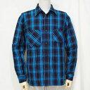 SIN18-01-IDxBL-ロープインディゴヘビィーネルワークシャツ18-01-SIN1801-SAMURAIJEANS-サムライジーンズネルシャツ-…