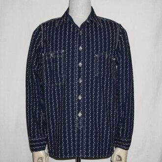 SMB L01-靛蓝-makibisywobashwork L01-SMBSL01-SAMURAIJEANS-武士牛仔裤衬衫-长短袖 t 恤