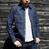 SWD-L01- indigo - denim western shirt gull L01-SWDL01-SAMURAIJEANS- samurai jeans western shirt